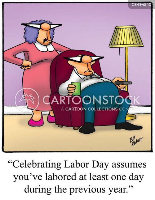 laboring cartoon