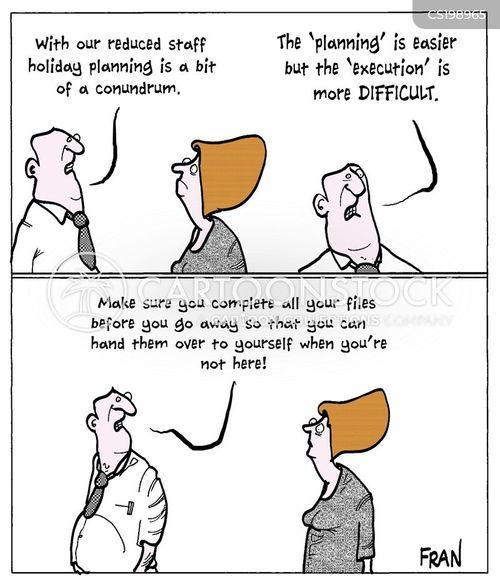 staff cut cartoon