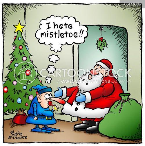 mistletoes cartoon