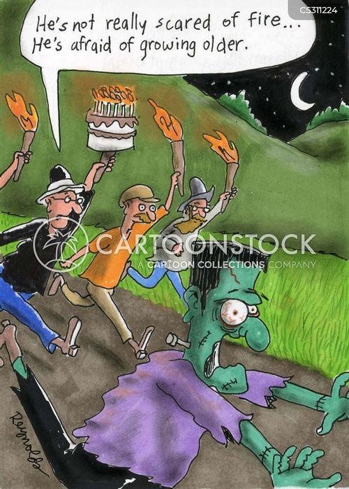fire phobias cartoon