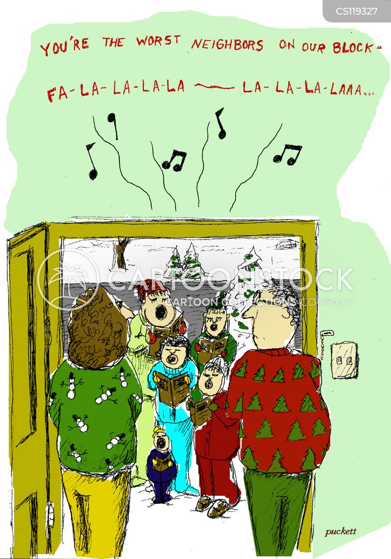 caroling cartoon
