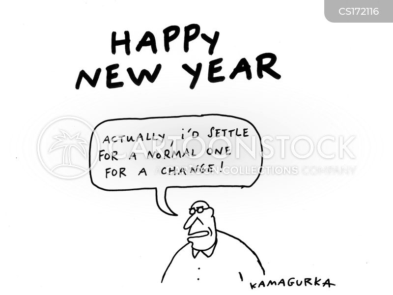 Happy New Year Cartoons and Comics - funny pictures from CartoonStock