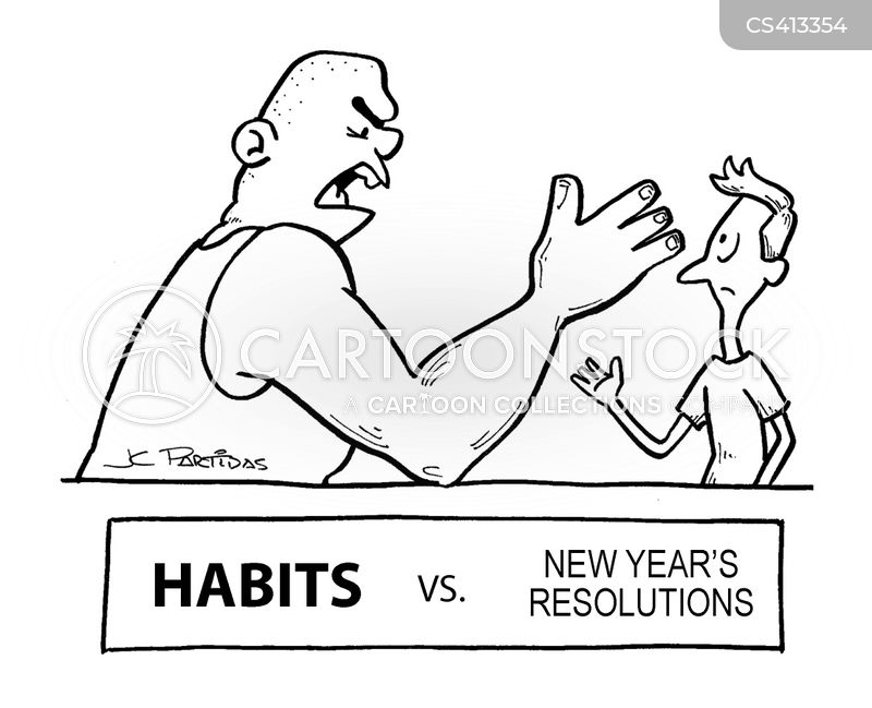 new years promise cartoon