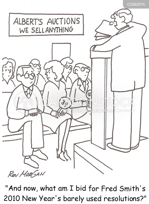 auctioner cartoon