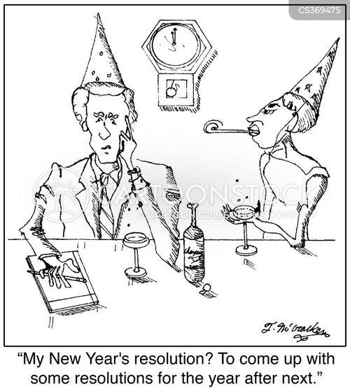 making resolutions cartoon