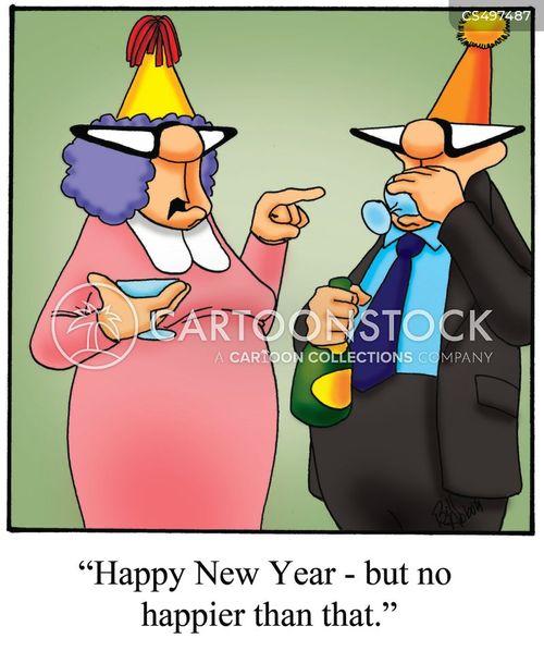 new years party cartoon