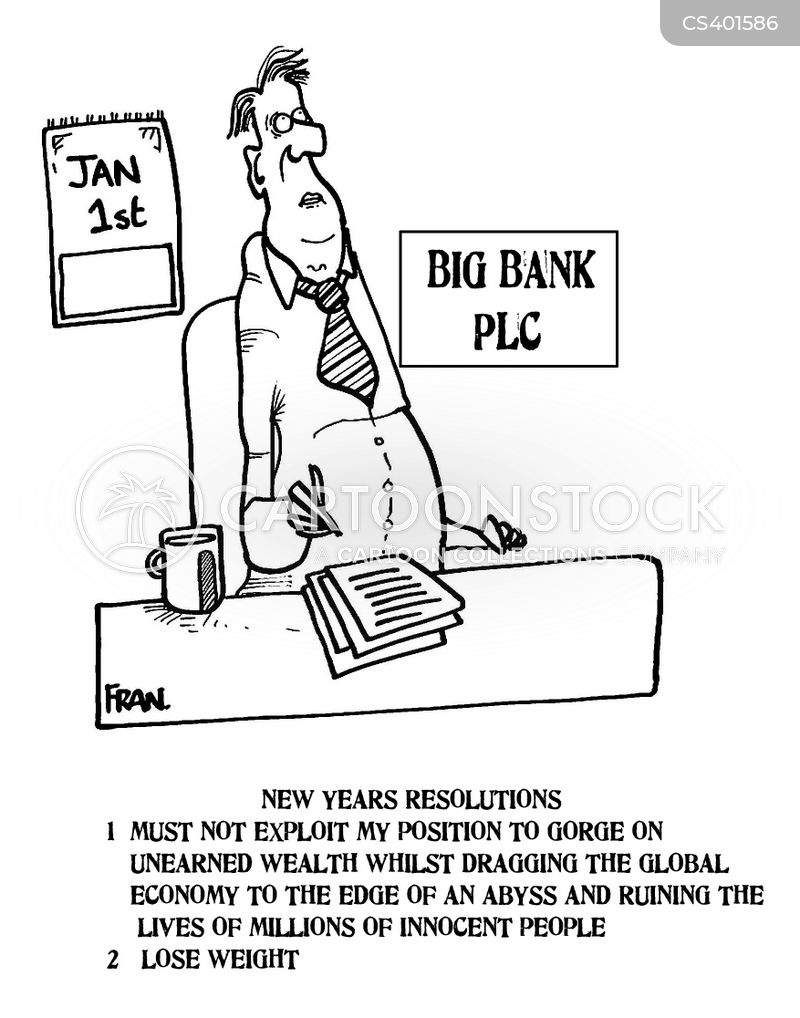bank bonuses cartoon