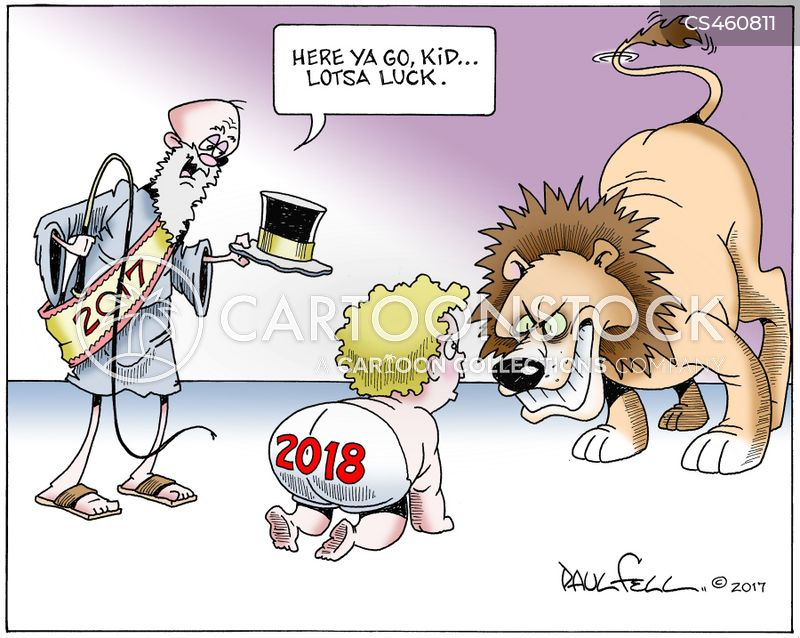 new year 2018 cartoon 1 of 1