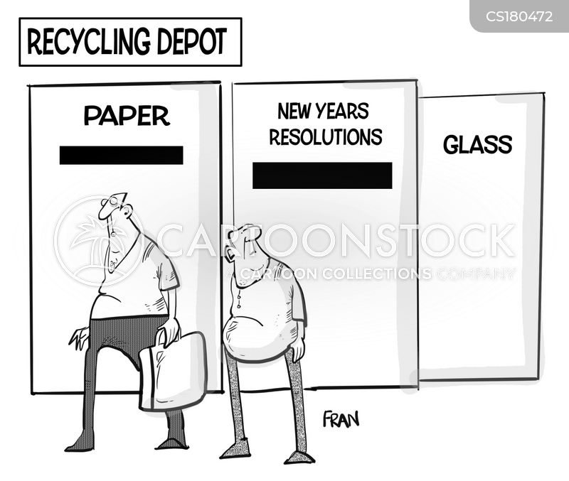 recycling points cartoon