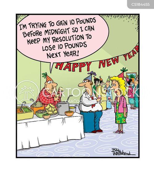new years day cartoon
