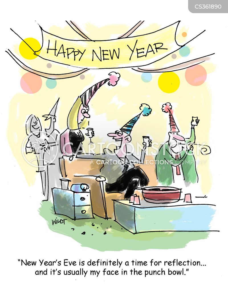 New Years Party Cartoons and Comics - funny pictures from CartoonStock