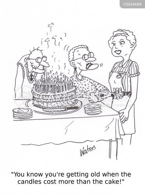old folks cartoon
