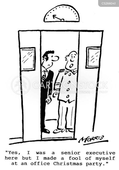 senior executive cartoon