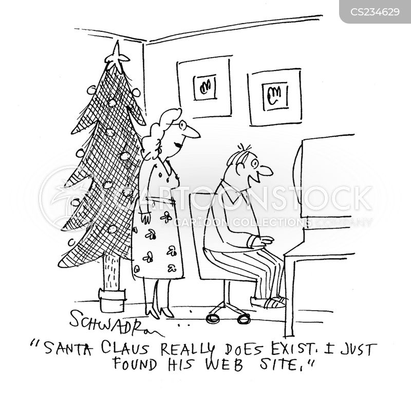 existence of father christmas cartoon