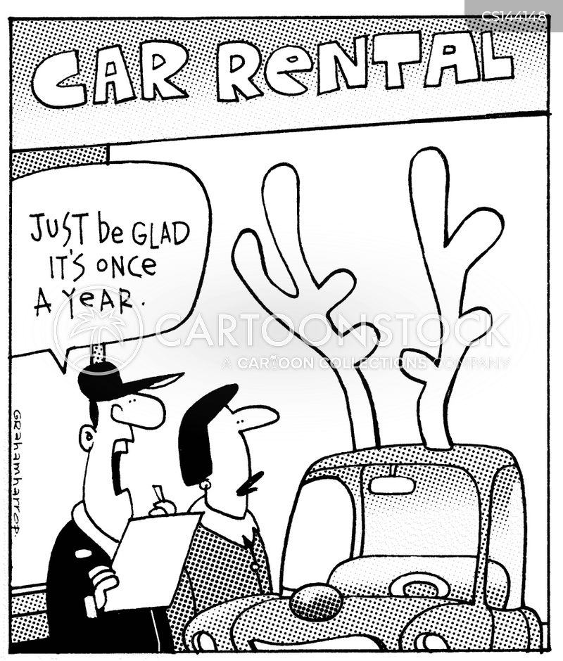 rental cars cartoon