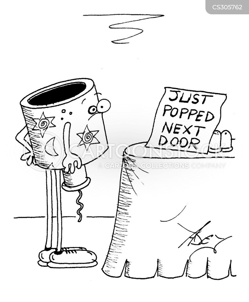 party poppers cartoon