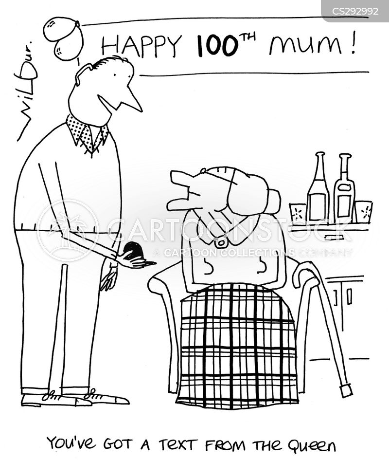 100th birthday cartoon 6 of 9