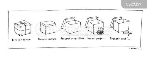 present progressive cartoon