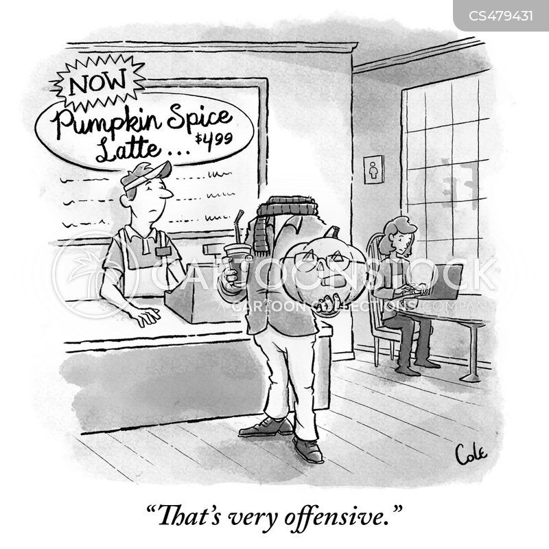 pumpkin spice cartoon