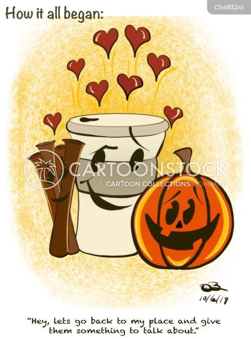 pumpkin spices cartoon