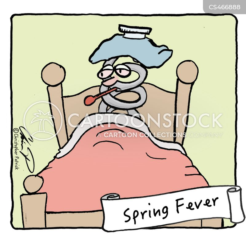spring fever cartoon