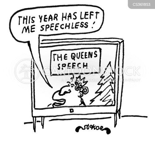 christmas speech cartoon