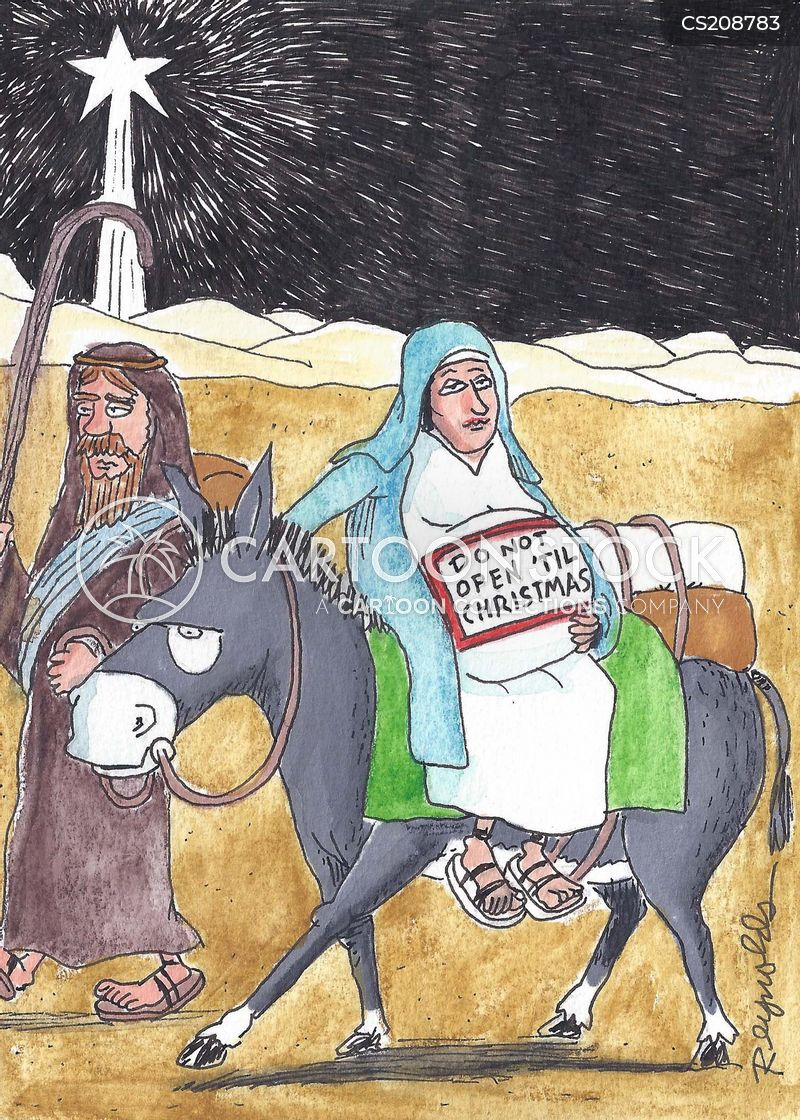 nativity story cartoon