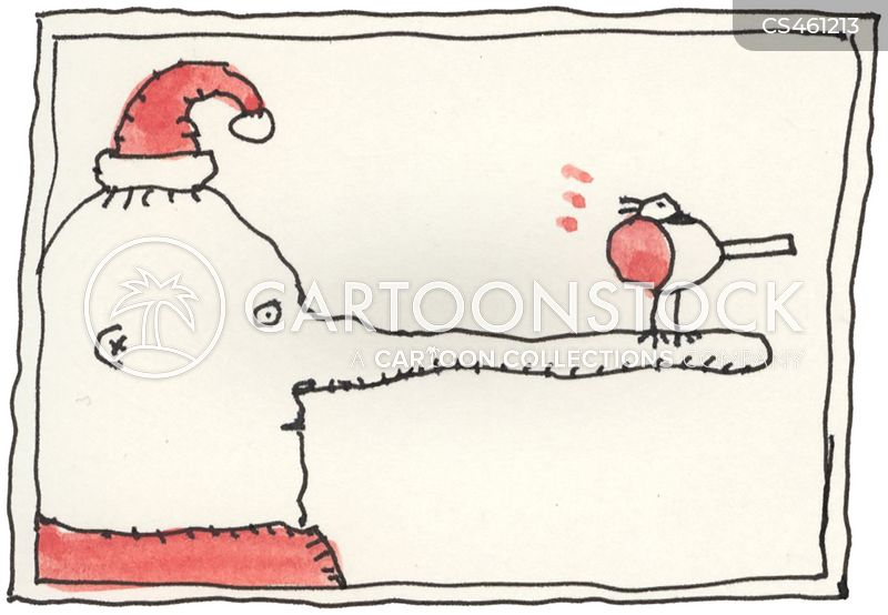 winter bird cartoon