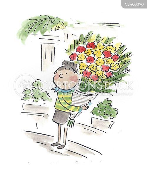 flower arrangements cartoon