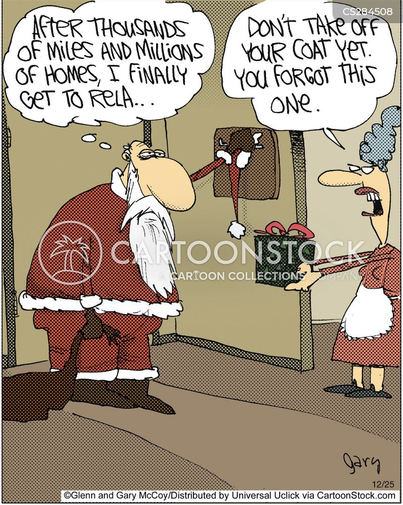 mrs claus cartoon