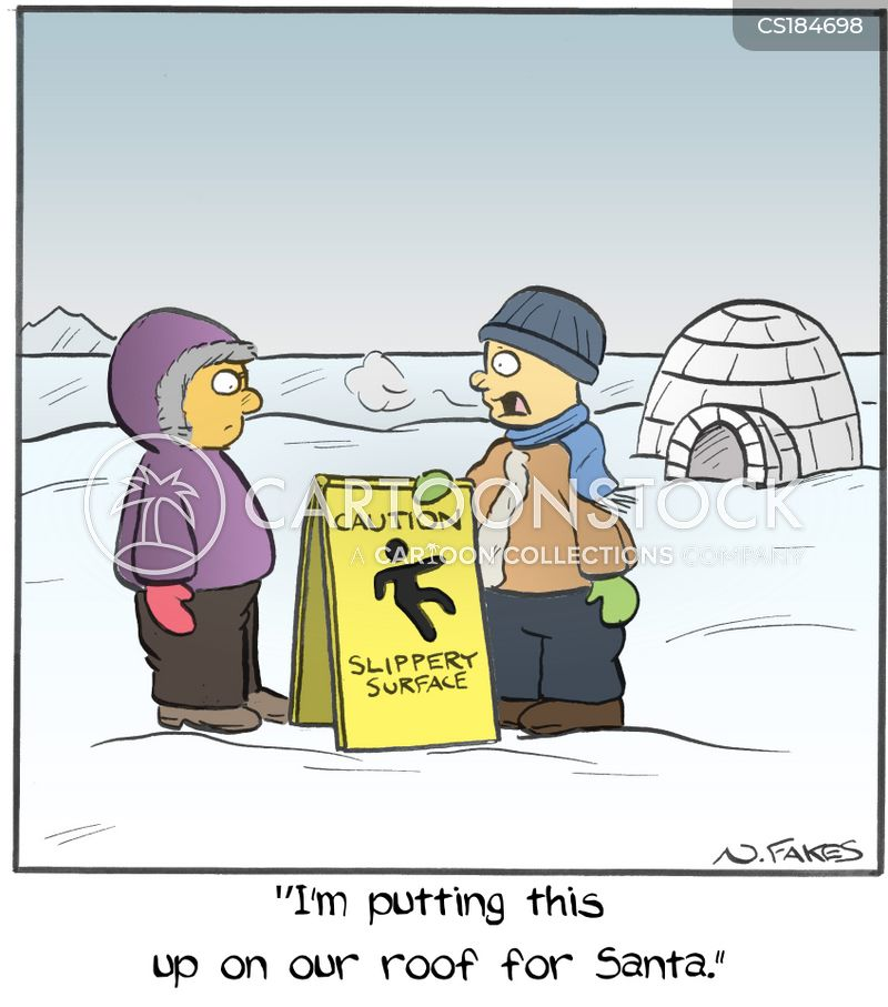 slippery surface cartoon