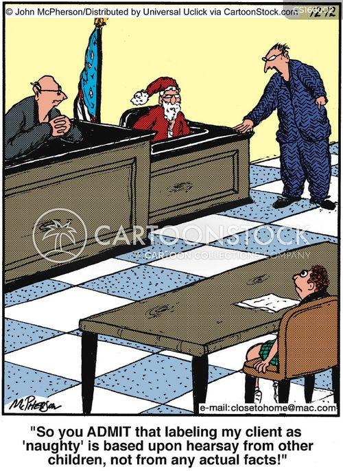 judging cartoon