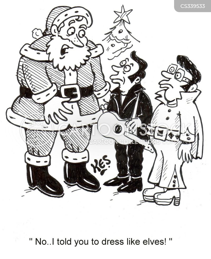 santas helpers cartoon