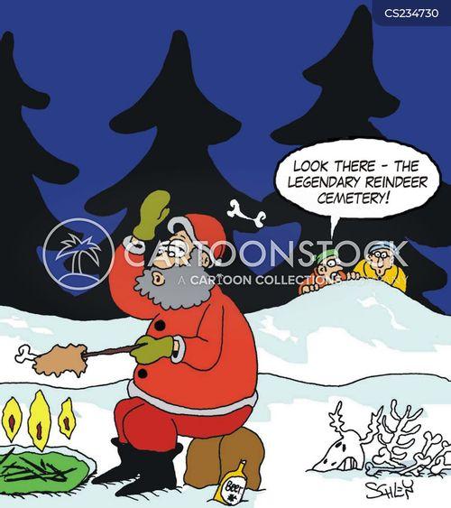 santas reindeer cartoon