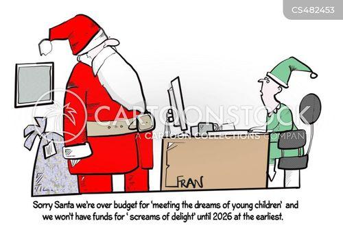 budget restrictions cartoon