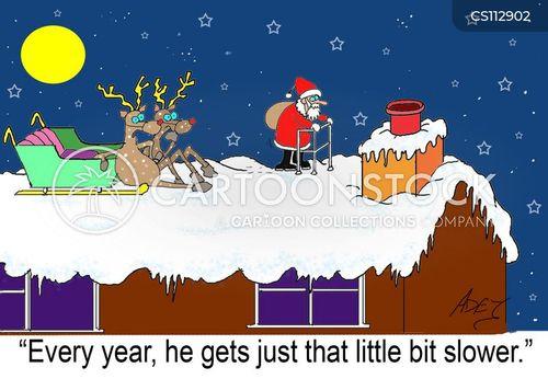 Senior Christmas Cartoons Christmas Senior Cartoon 1 of