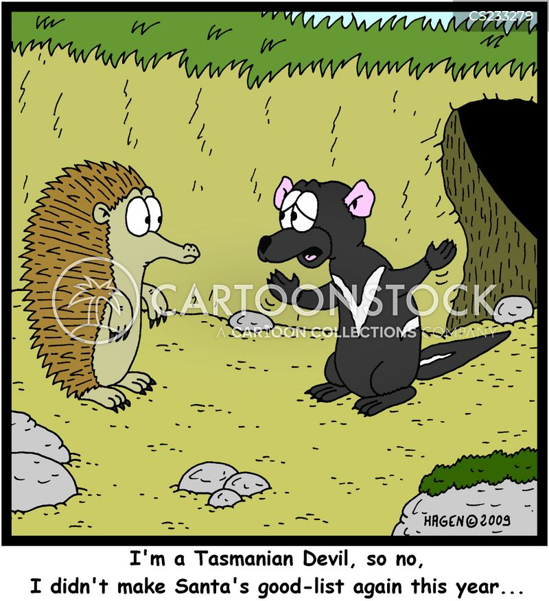 tasmanian devils cartoon