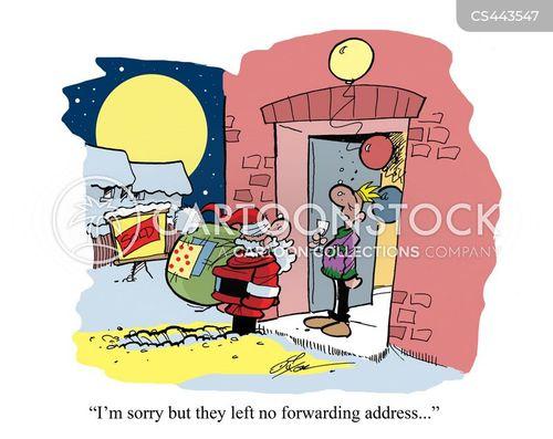 delivering presents cartoon