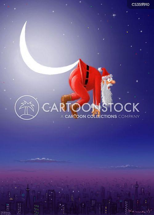 half moons cartoon
