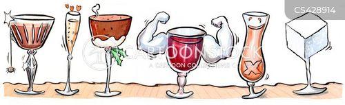 festive drinks cartoon