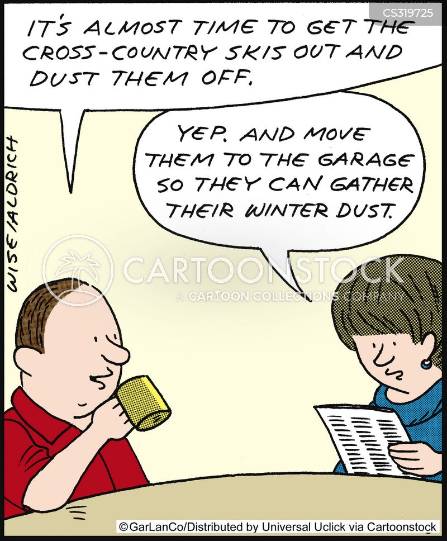 ski slope cartoon
