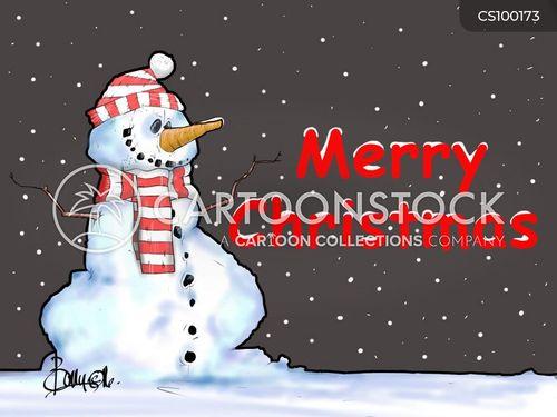 build a snowman cartoon