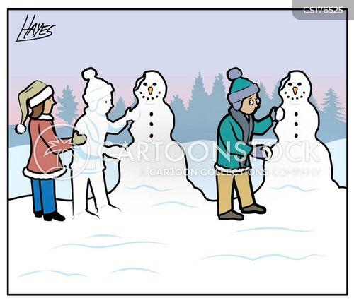 snow sculptures cartoon