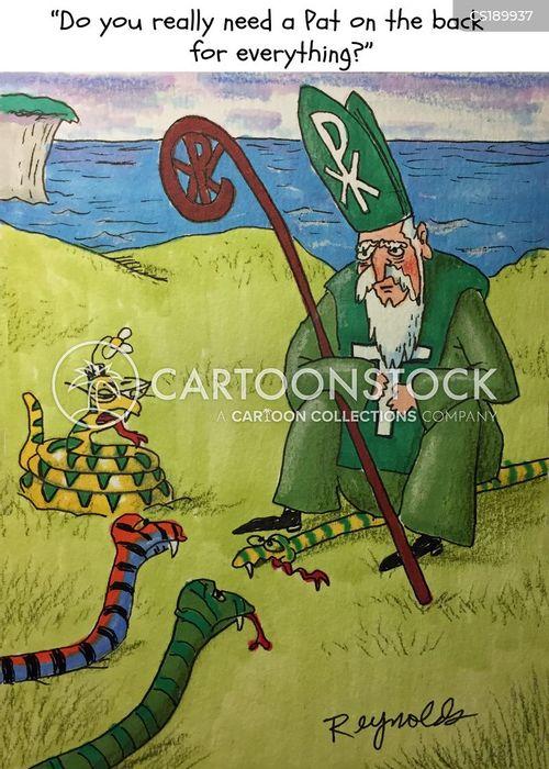 st. patrick cartoon
