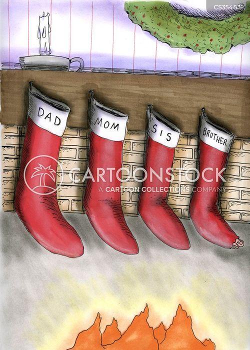 socks with holes cartoon