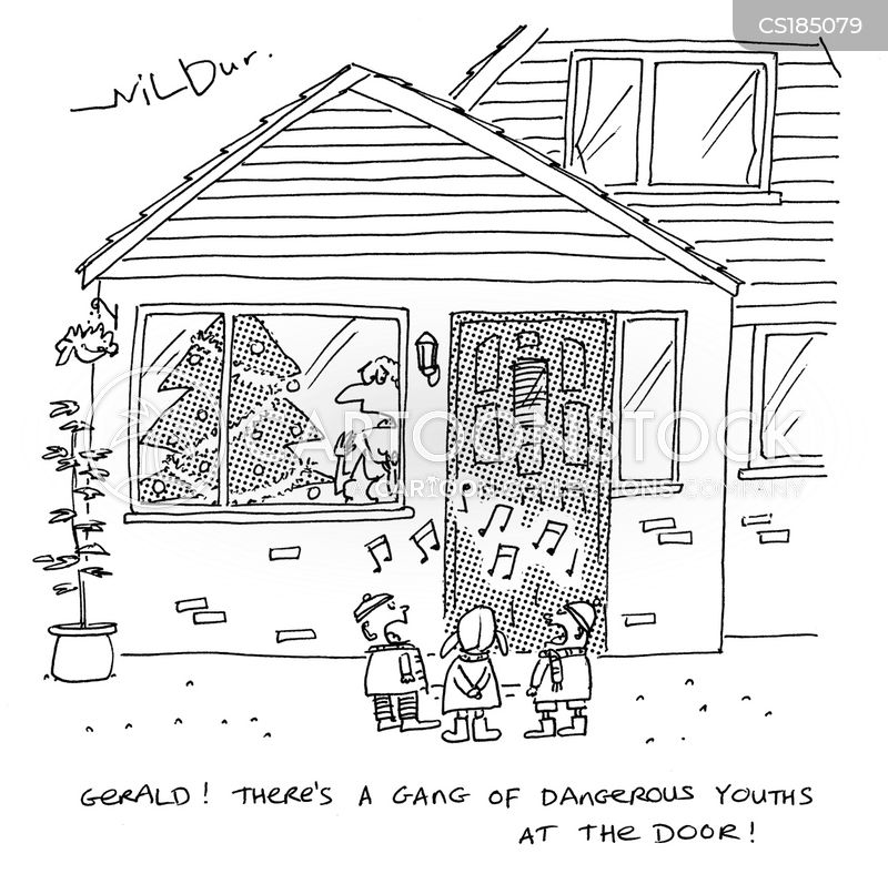 carol singing cartoon