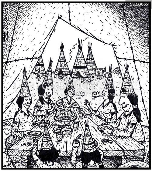 teepees cartoon