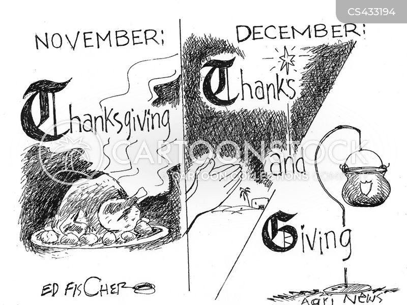 giving thanks cartoon