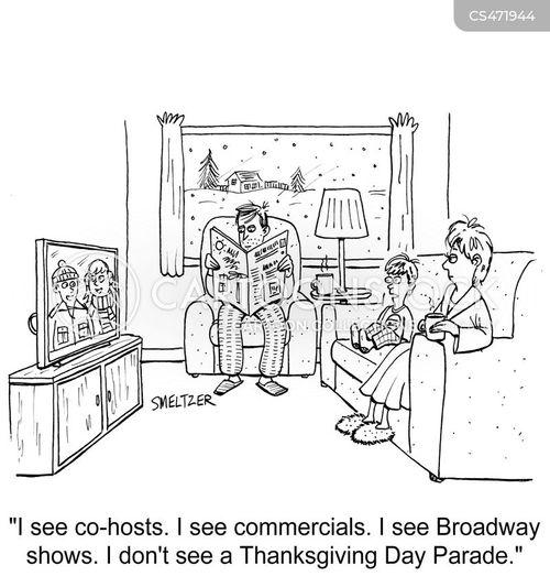 thanksgiving parade cartoon