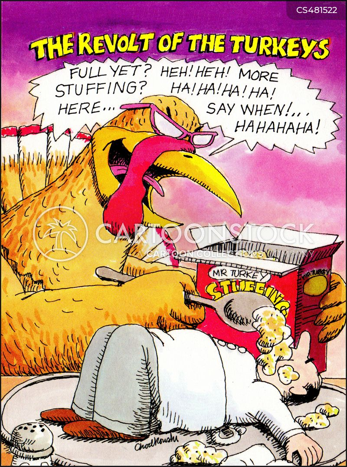 turkey stuffing cartoon